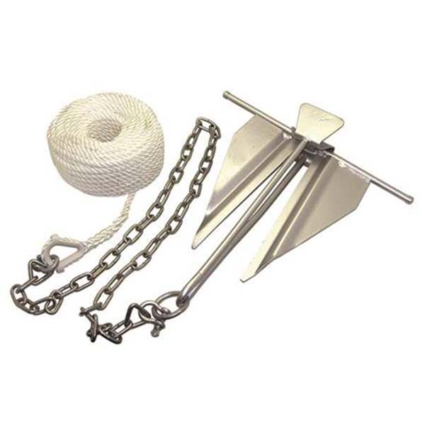 Factory-Supplied Anchor, Rope and Chain Kit
