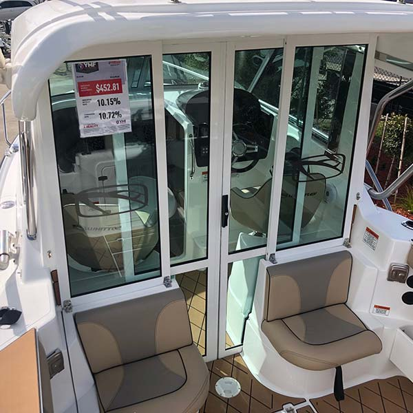 (Coast Tourer Edition) Lockable Sliding Cabin Door Option & Fiberglass Hardtop with Rod Holders & Grab Rails (Hard Top Option Needs To Be Selected As Well)
