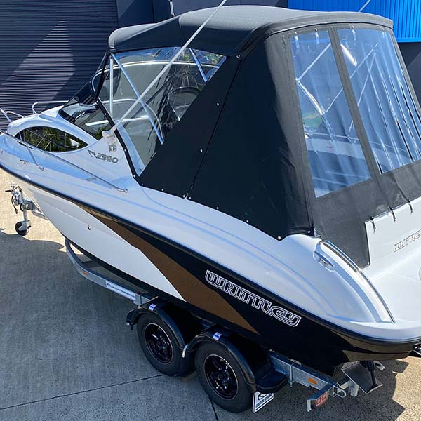 Full Cruiser Canopy (Bimini, Front & Side Clears, Rear And Rear Side Clear Inc Rear Side Door)