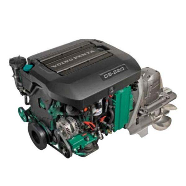 Volvo Penta D3 220 EVC Engine With Duo Prop Drive (S/S Props) & 7