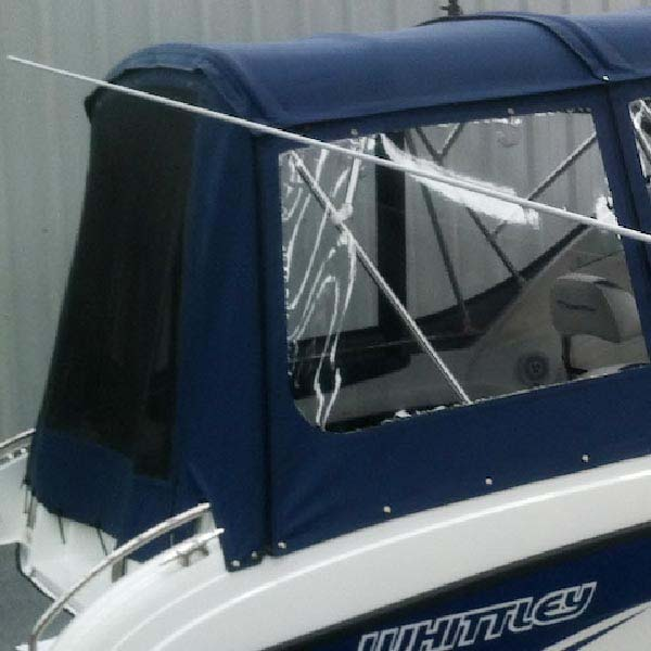 Flyscreen Zip Panels in Rear Canopy (Only Available When Rear Fully Enclosed Canopy Option Selected)