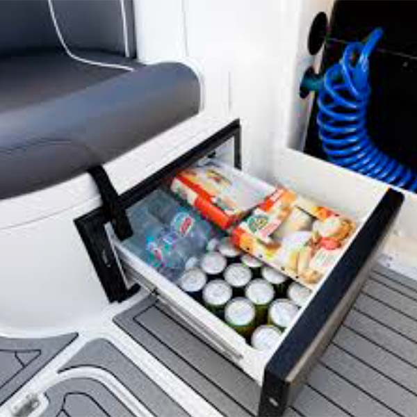 Slide Out Waeco Fridge Under Rear Facing Seat